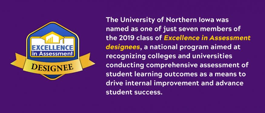 UNI Named an Excellence in Assessment Designee
